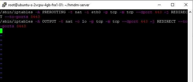 iptables setup file